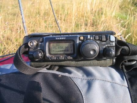 Yaesu FT-817 on Linton Hill