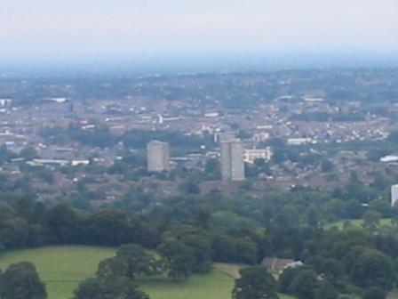 Overlooking Macclesfield from Kerridge Hill