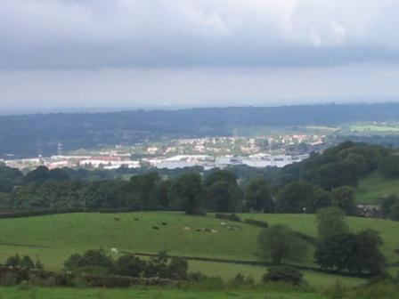 Looking out over Macclesfield from the hills above Rainow