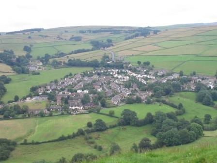 Looking down on Rainow from Kerridge Hill