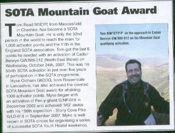 Tom M1EYP Mountain Goat