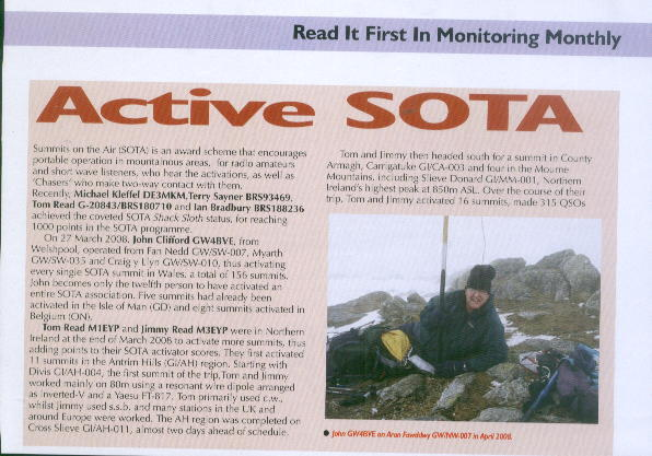 SOTA news in Monitoring Monthly magazine