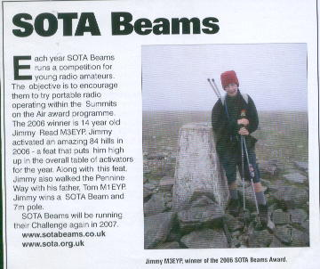 Jimmy M3EYP SOTA Beams Challenge