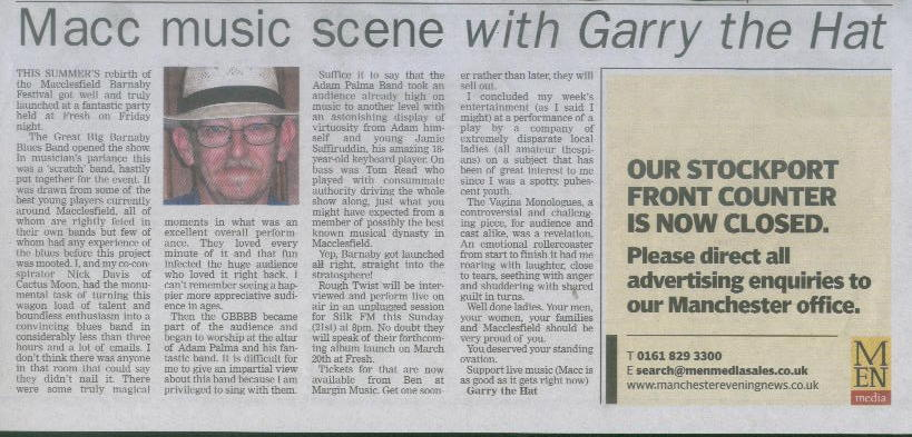 Macclesfield Express music column