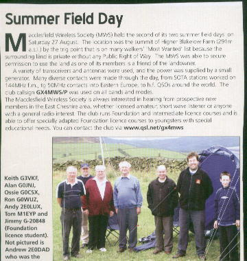 Macclesfield club field day