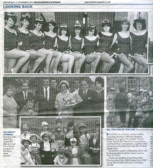Mother in the paper (top photo far left, middle photo far right)